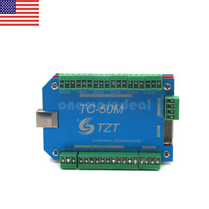Tzt Tc50m 50khz Cnc Usb Mach3 Motion Control Board 6 Axis Card Controller Us
