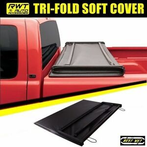 Soft Lock Tri Fold Tonneau Cover For 1994 2004 Chevrolet S10 Gmc S15 6 Bed