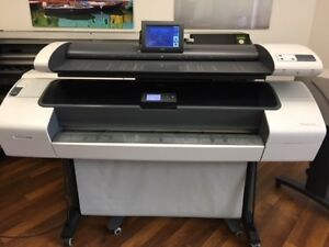 Hp Designjet T1120 Sd Mfp 44 Wide Large Format Color Printer scanner