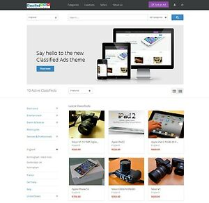 Classified Ads Website Responsive Design Wordpress Site Multi Seller Marketplace