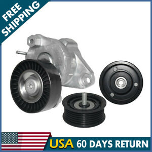Drive Belt Tensioner W 2 Idler Pulleys Set For Mercedes Benz 2720270 1419 1019