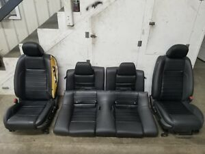 2011 2012 Ford Mustang Gt Cs Front Rear Leather Seats Set Oem