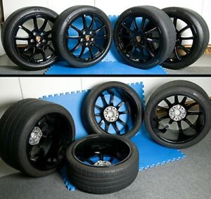 New Porsche 19 997 Gt2 Gt3rs Turbo C4s Wheels Gloss Black By Wsp Italy