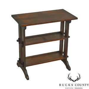 Roycroft Antique Mission Oak Little Journey S Book Stand