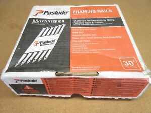 Paslode 650836 Framing Nail Smooth Brite 30 Degree 10d 3 in X 120 2 500 ct
