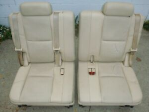 2007 14 Tahoe Yukon Suburban Grey Titanium 3rd Third Row Leather Bucket Seats