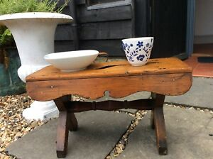 Super Victorian Pine Country Low Stool Long Ideal Coffee Cottage Lamp Bed Table