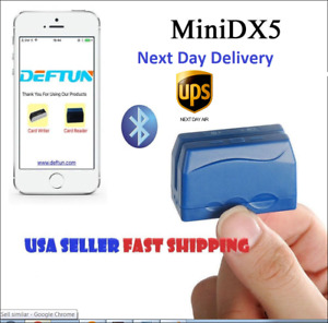 Minidx5 Bluetooth Portable Credit Card Reader Data Collector Next Day Delivery