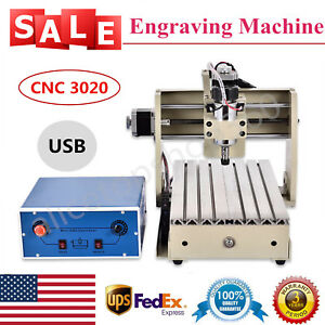 Usb 3axis Cnc 3020t Router 300w Spindle Pro Engraving Milling Cutter Machine Usa