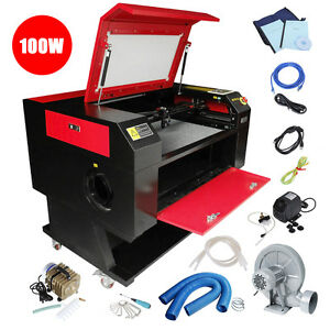 100w Co2 Laser Cutter Engraver Cutting Engraving Machine 700x500mm Usb Used