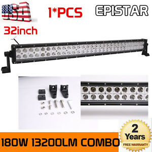 32 inch 180w Led Work Light Bar Flood Spot Combo Offroad Truck Suv Slim Lights