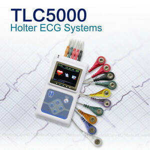 Usa 24 Hours Dynamic Ekg Monitor Ecg Holter 12 Channel Leads Software Analyzer