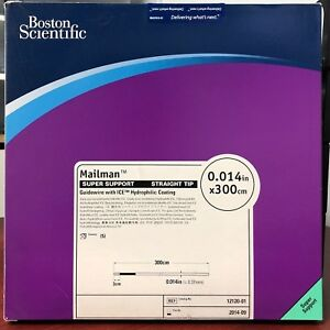Boston Scientific Mailman Guidewire 014in X 300cm Box 5 Units Ref 12120 01
