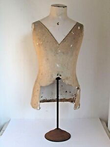 Antique Tabletop Mannequin Dress Form For Mens Shirts Etc