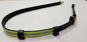 Sav a jake Firefighter Leather 3m Triple Yellow Reflective Radio Strap
