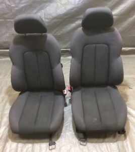 2005 2007 Chrysler Crossfire Black Cloth Manual Bucket Seats Pair Oem Cf017