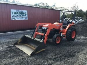 2006 Kubota L3400 4x4 Tractor With Front Loader