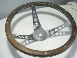 Vintage superior the 500 wooden steering wheel 13 1 2 rat hot rod