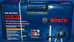Bosch 1 000 ft Beam Self Leveling Rotary Laser Level Full Kit Grl 250 Hvck