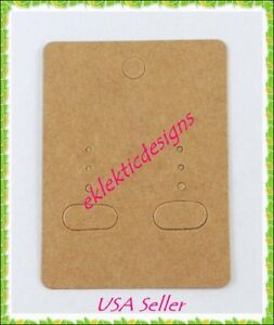 100pcs 2 X 2 5 Blank Kraft Goldenrod Camel Rectangle Earring Display Cards