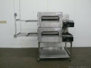 Lincoln 1132 Double Electric Conveyor Pizza Sandwich Convection Oven Middelby