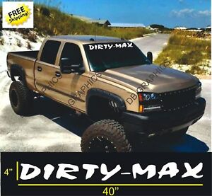 Dirtymax Duramax 40 Vinyl Decal Sticker Chevrolet Ford Truck 2500 4x4 Dodge