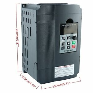 220v 12a Single Phase Variable Speed Control Drive Frequency Inverter Vfd 2 2kw