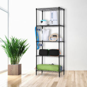 Heavy Duty Storage Rack Wire Shelving 5 Tier Metal Shelf Adjustable Shelf Storag