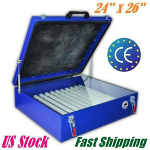 240w Vacuum Exposure Unit 24 X 26 Precise Screen Printing Compressor Outside