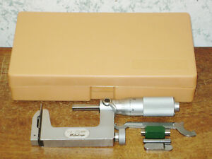 Mitutoyo 1 2 Inch Multi Anvil Micrometer No 117 108 W Case Standard Lot1a