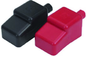 Moeller Boat Marine Battery Terminal Covers Includes 1 Black 1 Red Flexible Pvc