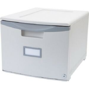 Storex Single Drawer Mini File Cabinet With Lock Legal letter Drop Ship Appro