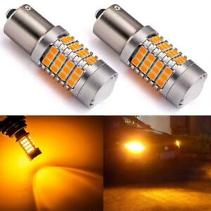 Endpage 1156 1141 1003 7506 Ba15 Led Bulb 2 Pack Amber Yellow Extremely Bright