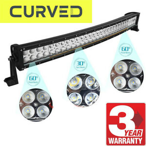 32inch 180w Curved Led Light Bar Work Offroad Truck Boat Suv Atv Fits Ford Jeep