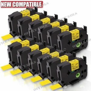 12pk Black On Yellow Label Tape 18mm For Brother P touch Tz 641 Tze 641 Us Stock