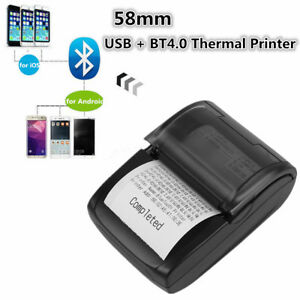 Thermal Printer Receipt For Ios Android 1d 2d Bluetooth 58mm Mobile Pos Bill Usb