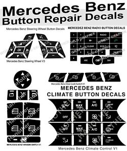 Mercedes Benz Button Repair Package Steering Ac Window Decals Stickers V2