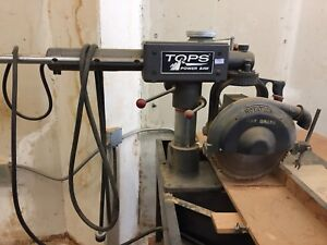 Tops 55508 Wood Cutting Radial Arm Power Saw Vintage