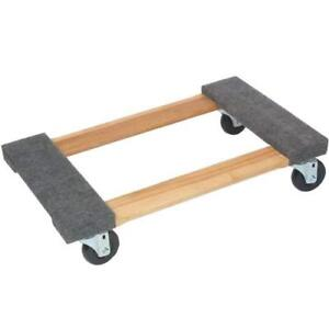 Carpeted Wood Movers Dollie 18 X 30 Pine 300 Capacity