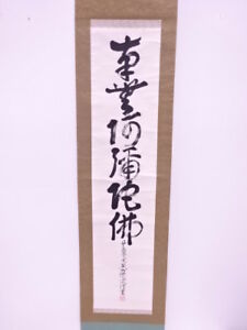 3849372 Japanese Wall Hanging Scroll Hand Painted Calligraphy
