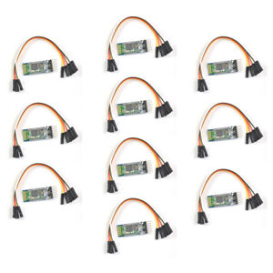 10pcs Wireless Serial 6 Pin Bluetooth Rf Transceiver Module Hc 05 Rs232 Cable