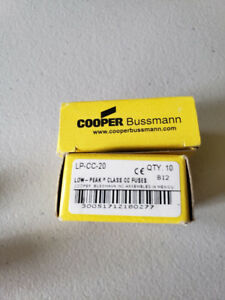 Bussman Eaton Lp cc 20 20 Amp Fuses Full Box 10pcs