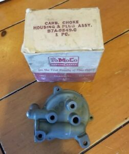 Nos 1957 Ford Carburetor Choke Housing Plug Assembly B7a 9849 C In Box