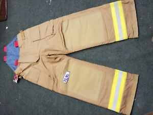 Firefighter Turnout Pants Bunker Gear With Liner 32 X 30 Nomex W Buckles