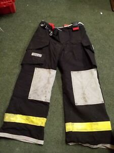Fire Dex Firefighter Turnout Pants Bunker Gear With Liner Mx29 Nomex W buckles