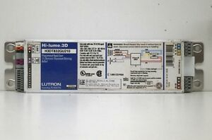Lutron H3dt832gu210 Fluorescent Dimmable Dimming Ballast For 2 F32t8 Lamps
