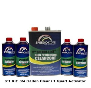 Automotive Clear Coat Spray Gallon Fast Ultra High Gloss