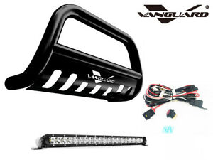 Vanguard 06 10 Ford Explorer Front Bull Bar With Led Lights Bar B K
