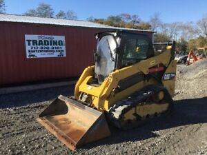 2015 Caterpillar 259d Compact Track Skid Steer Loader W Cab 2 Speed