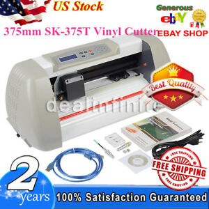 375mm Sk 375t Sign Sticker Vinyl Cutter Cutting Plotter Machine 100 240v White